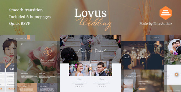 Lovus Wedding And Planner Website Template