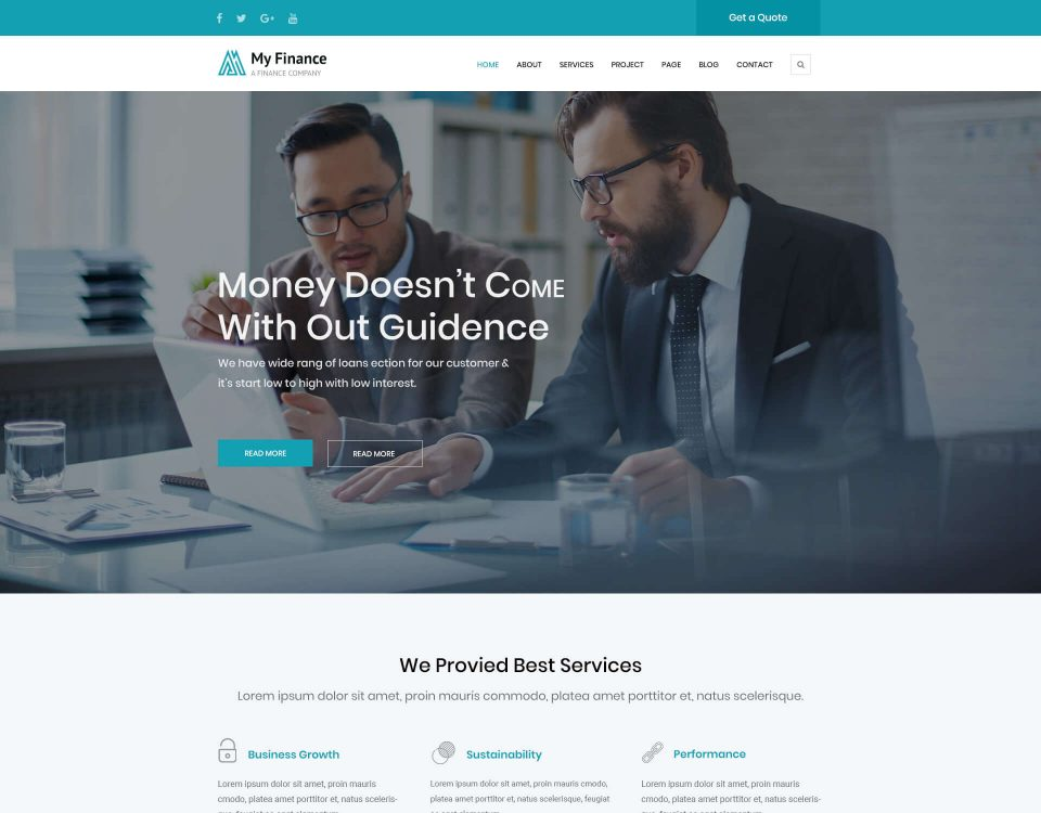 Finance Website 10