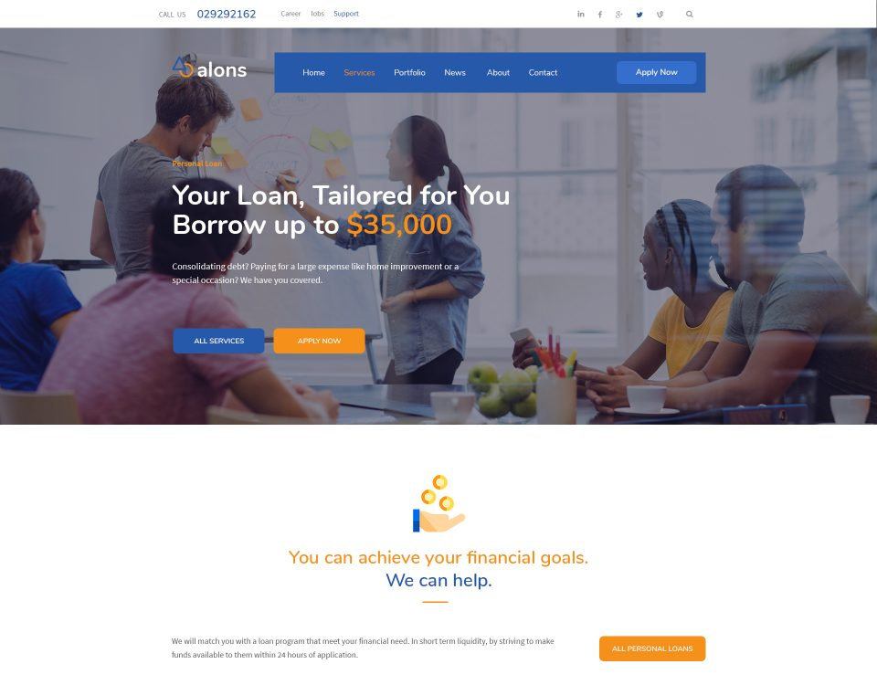 Finance Website 98